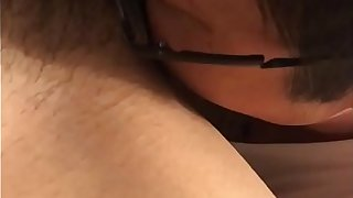 Japanese dad pussy licking