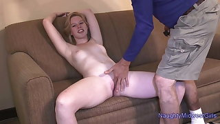 College cutie Nicky Lynn porn audition with creampie
