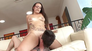 Oversize cock is everything that Tori Avano needs for the orgasm