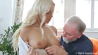 Blonde wed Karol_Lilien fucked by a next door neighbor - Old vs Young