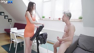 Keyed up natural sustenance cowgirl Lina Luxa is crazy about riding cock