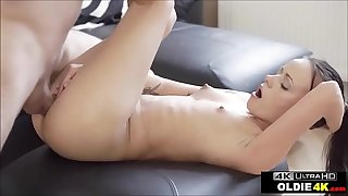 Small Tits Teen Takes Cock From Old Guy