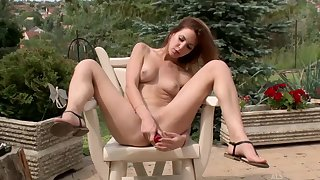 Sweetmeats Sweet is a super hot, nude baby who likes to masturbate nigh hammer away garden