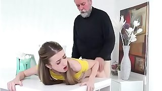 Teen Empera Lets Handyman Doggystyle Her