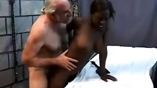 Teen stepdaughter interracial doggystyle with sulky stepdad