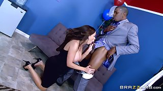 Anal with a black lover on at her daughter's birthday