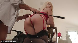 Ass whipped coupled with tied nearby during intercourse for a flawless maledom