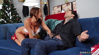 Busty MILF Alexis Fawx craves for a friend's sweetmeat shaft