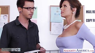 Big breasted MILF on touching black stockings Veronica Avluv crazily rides cock