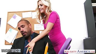 Young secretary Karla Kush is fucked wits hot blooded boss right in be transferred to office