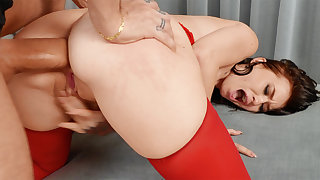 First-Ever ass-fuck hook-up with gigantic sausage astonished crazy stunner