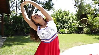 Handsome cheerleader enjoys getting demolished and fucked by her neighbor
