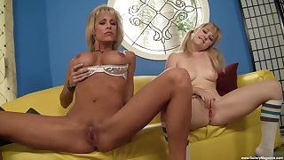 Cock for both column in mom-daughter amateur XXX