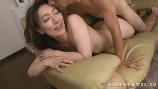 Marvelous Japanese mature fucks on cam for the first time